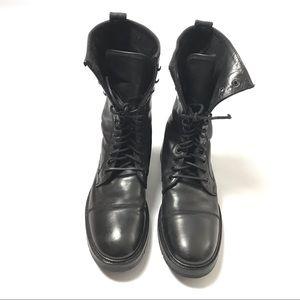 John Varvatos Men's Biker Moto Boots Size 9 Black